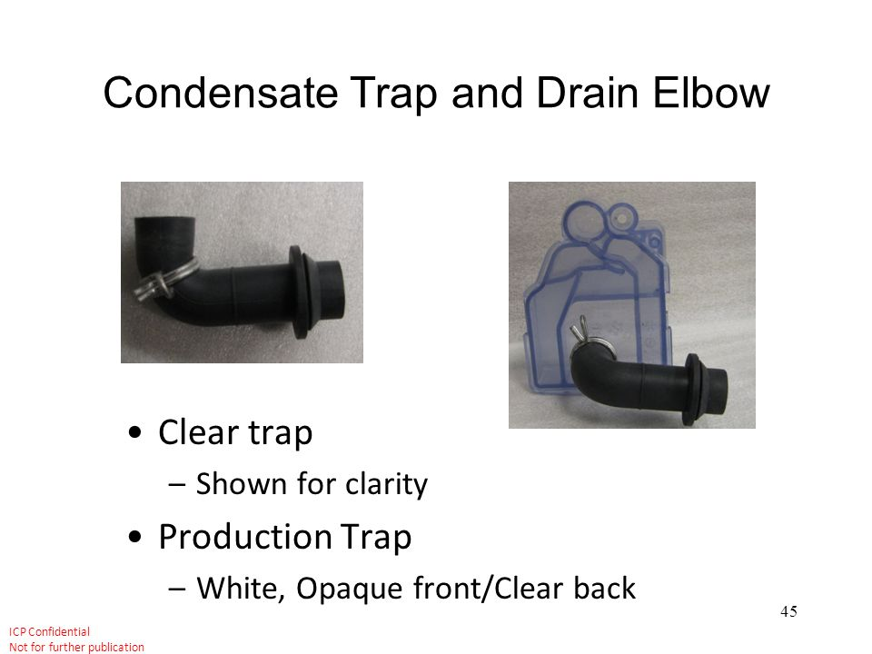 Condensate Trap and Drain Elbow
