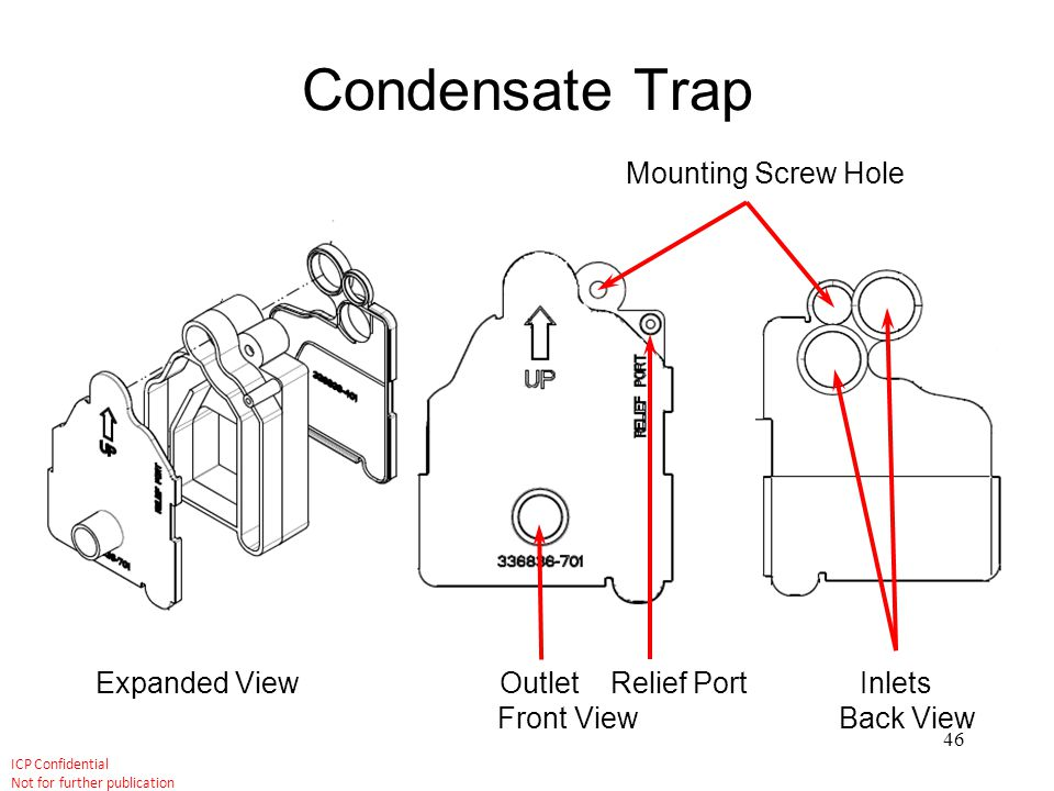 Condensate Trap Mounting Screw Hole