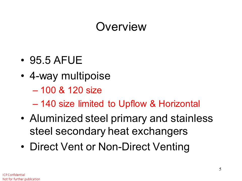 Overview 95.5 AFUE 4-way multipoise