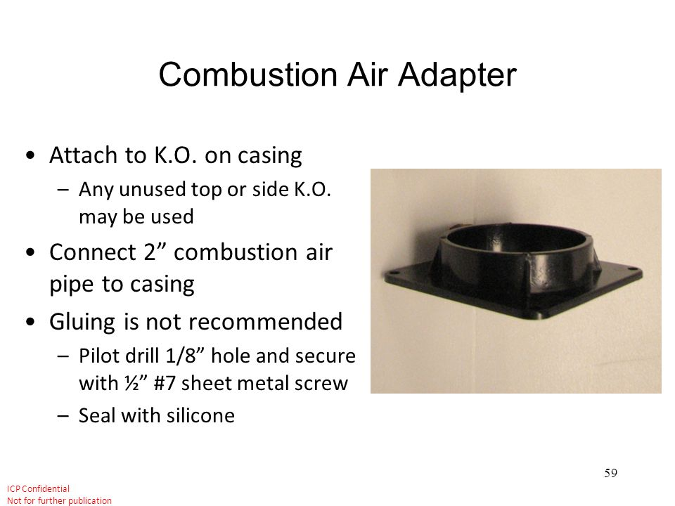 Combustion Air Adapter
