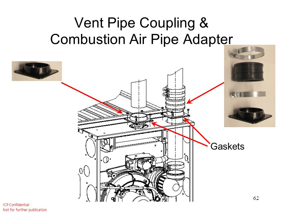 Vent Pipe Coupling & Combustion Air Pipe Adapter