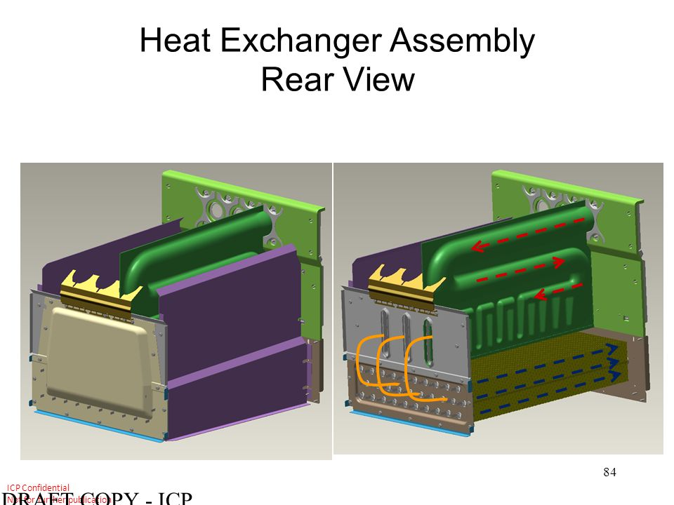 Heat Exchanger Assembly Rear View