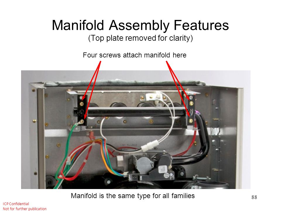 Manifold Assembly Features (Top plate removed for clarity)