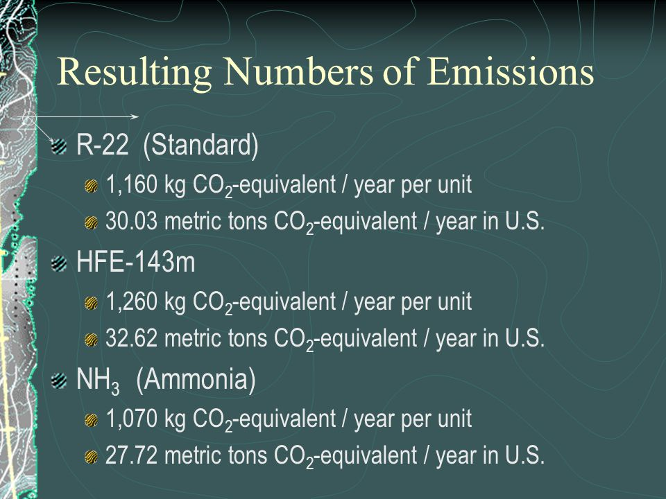 Resulting Numbers of Emissions