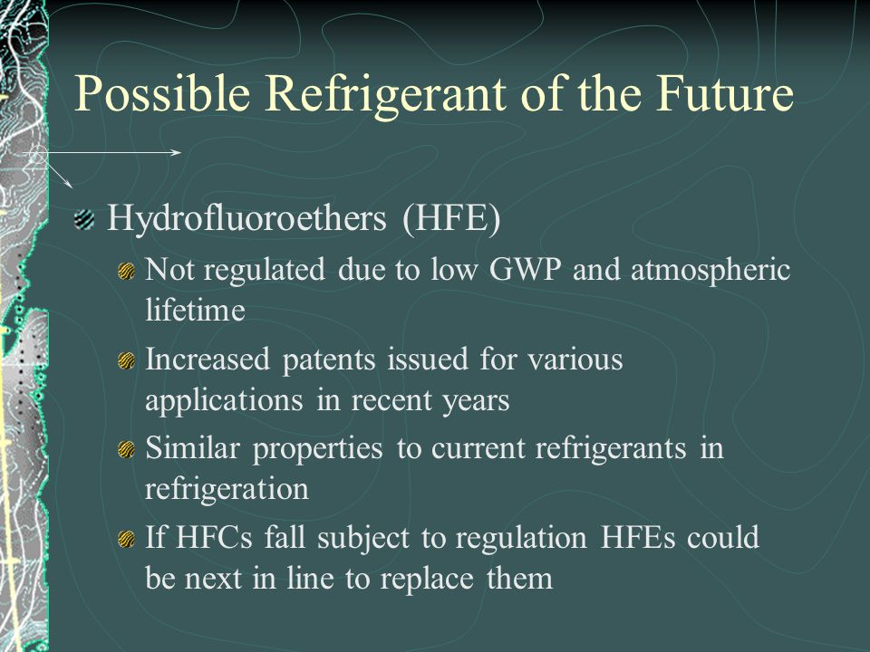 Possible Refrigerant of the Future