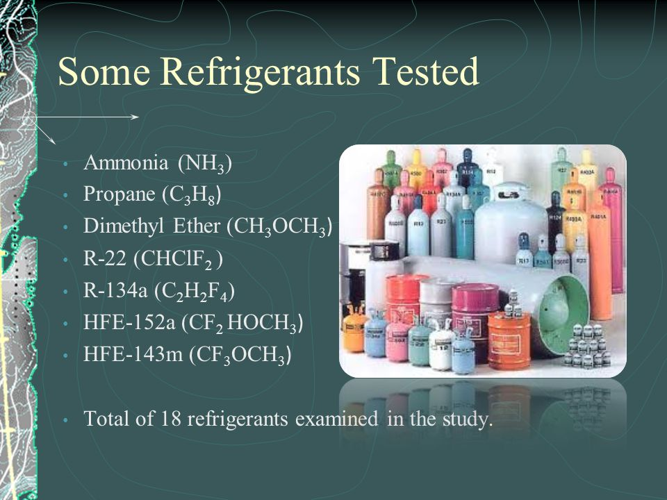 Some Refrigerants Tested