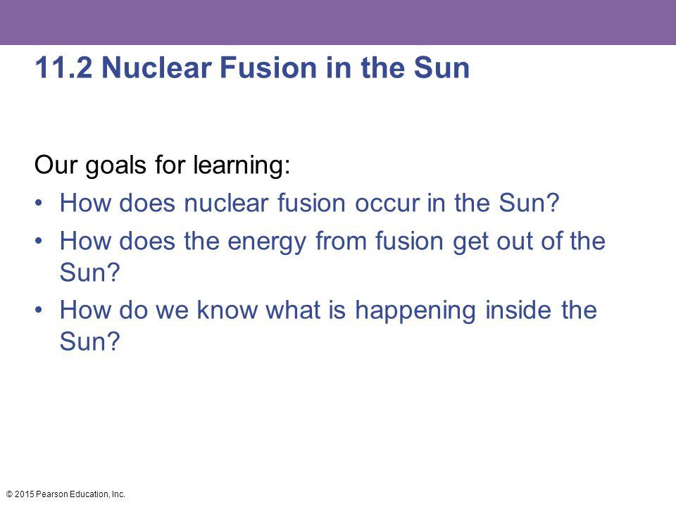 11.2 Nuclear Fusion in the Sun
