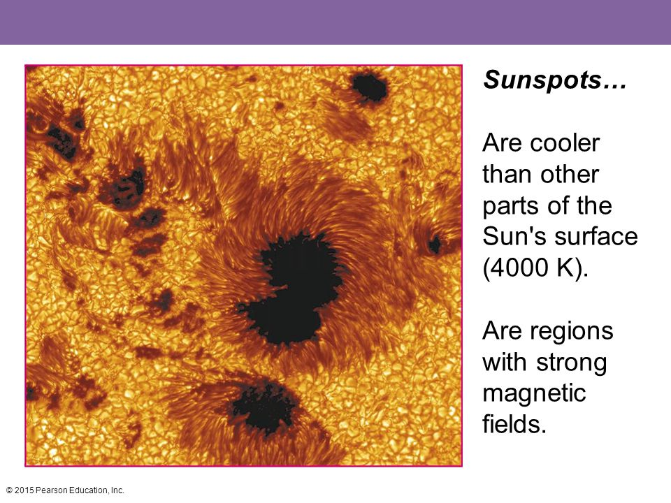 Are cooler than other parts of the Sun s surface (4000 K).