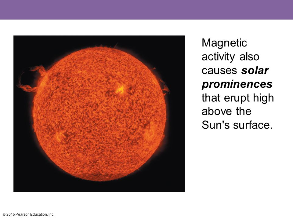 Magnetic activity also causes solar prominences that erupt high above the Sun s surface.