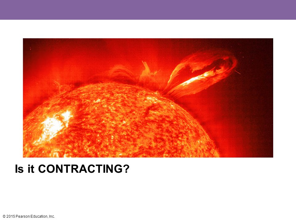Is it CONTRACTING © 2015 Pearson Education, Inc.
