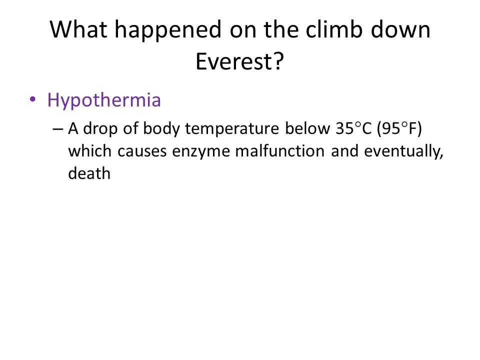 What happened on the climb down Everest
