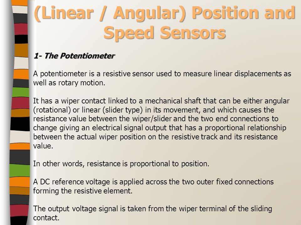 (Linear / Angular) Position and Speed Sensors