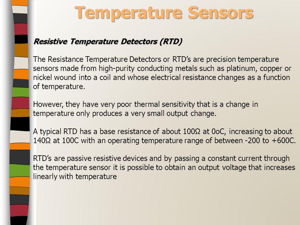 Temperature Sensors Resistive Temperature Detectors (RTD)