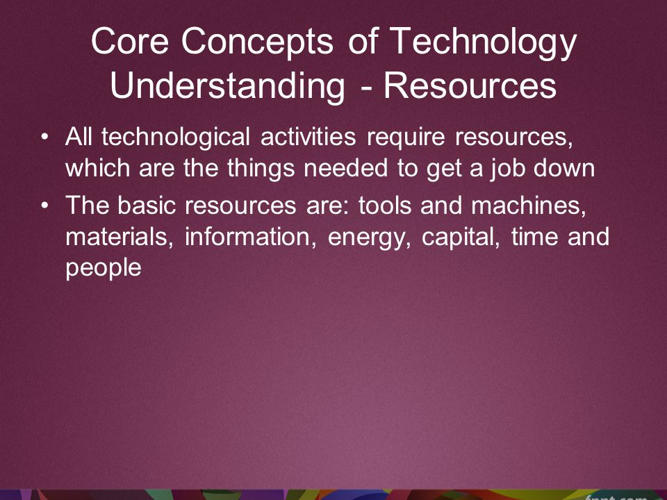 Core Concepts of Technology Understanding - Resources