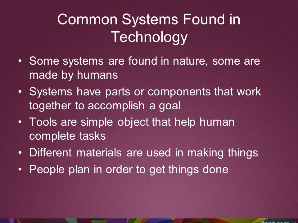 Common Systems Found in Technology