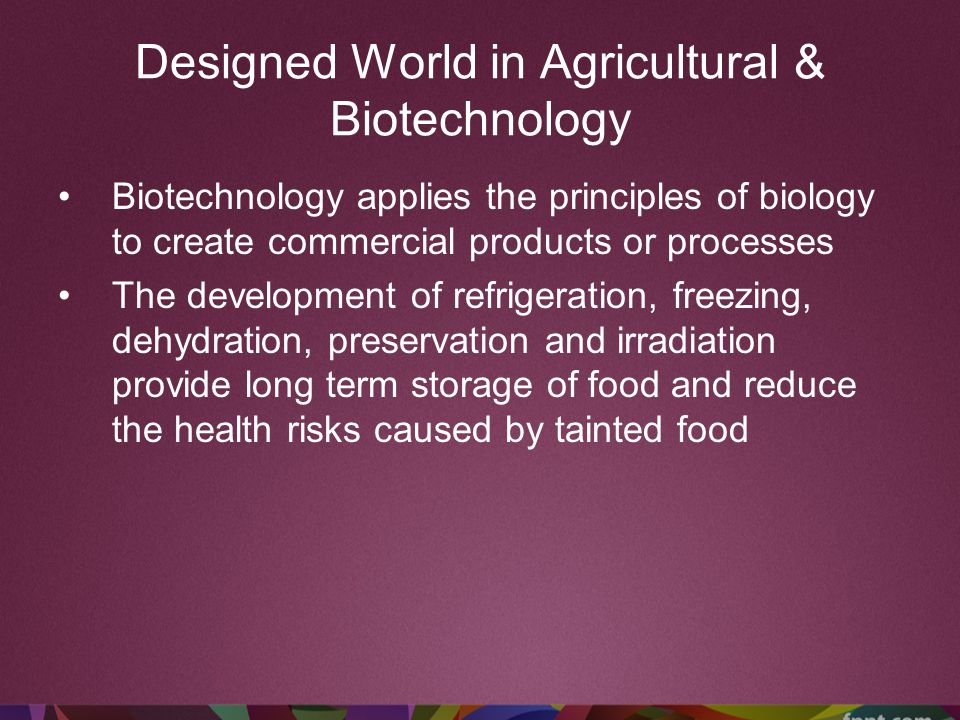 Designed World in Agricultural & Biotechnology