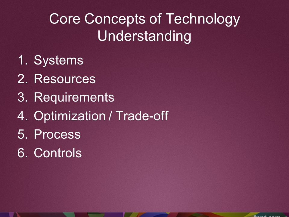 Core Concepts of Technology Understanding
