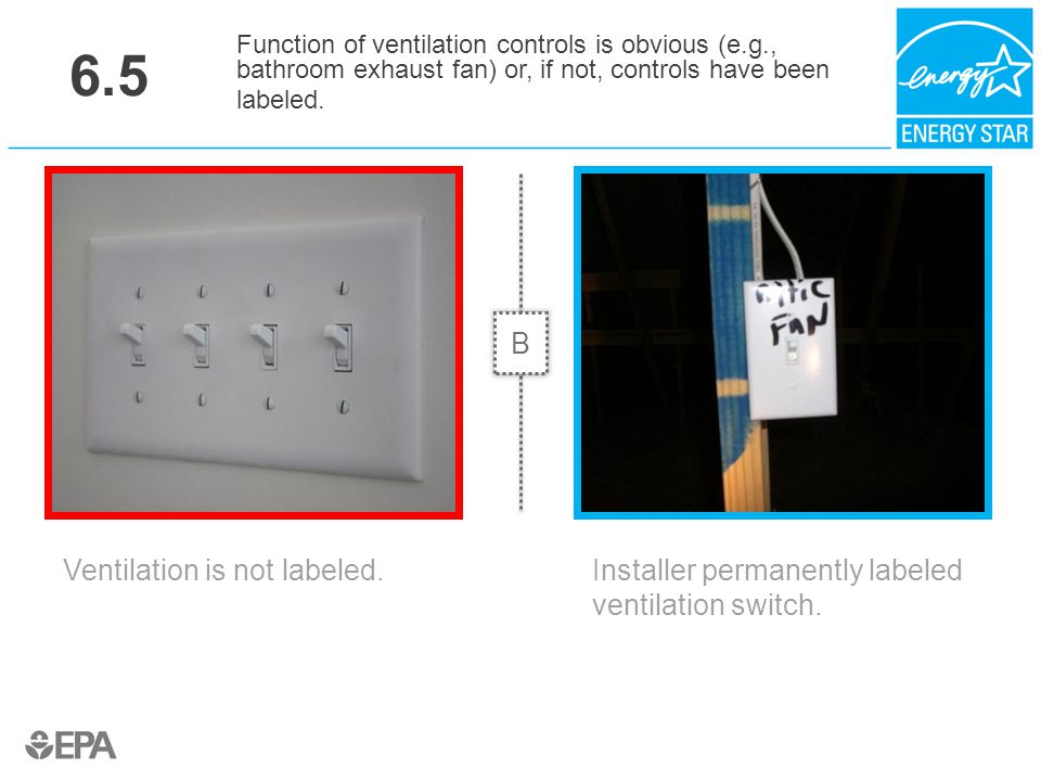 6.5 B Ventilation is not labeled.