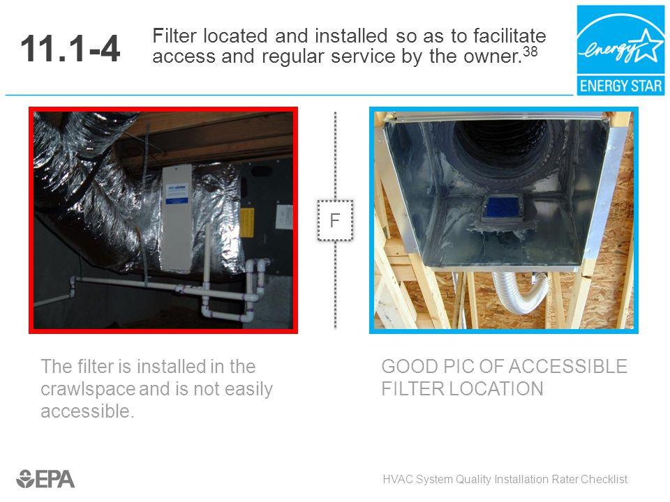 11.1-4 Filter located and installed so as to facilitate access and regular service by the owner.38.