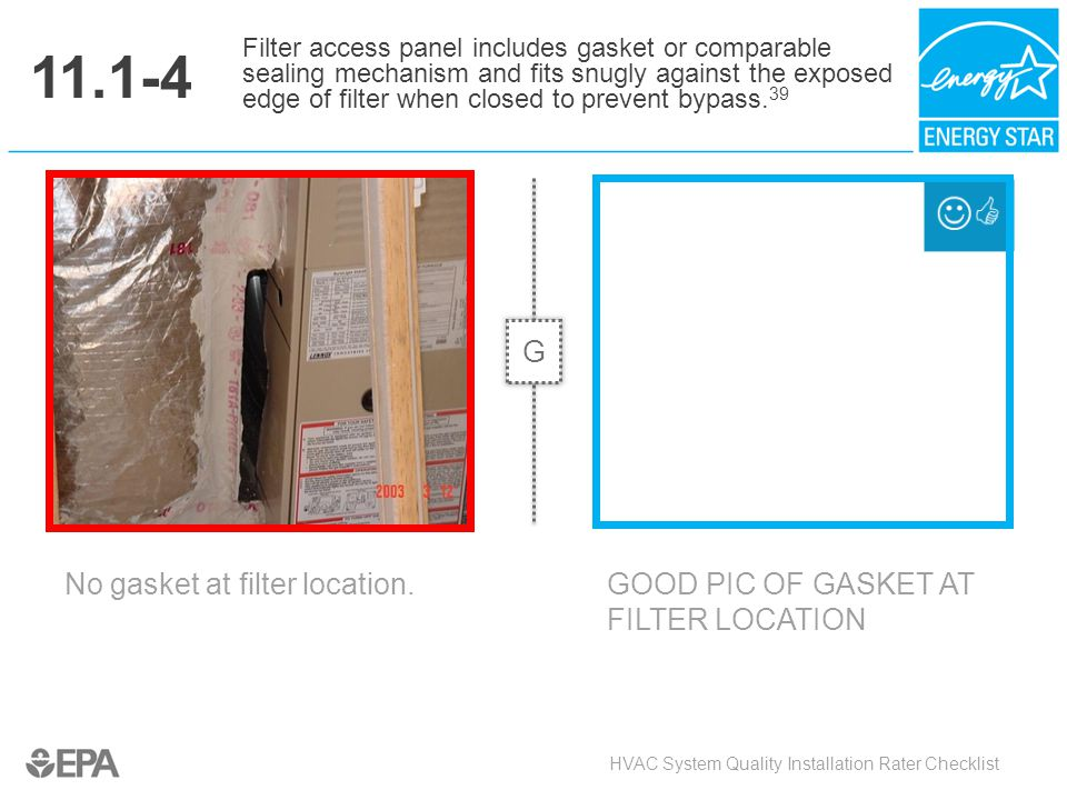 11.1-4 G No gasket at filter location.