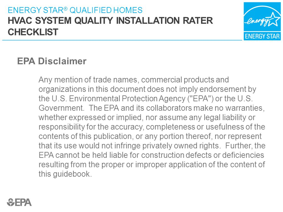 EPA Disclaimer