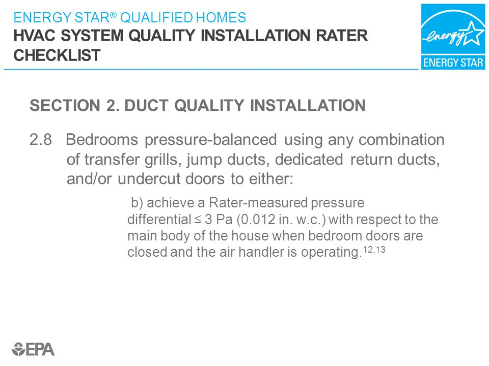 SECTION 2. DUCT QUALITY INSTALLATION