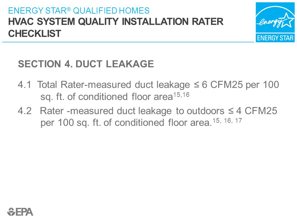 SECTION 4. DUCT LEAKAGE