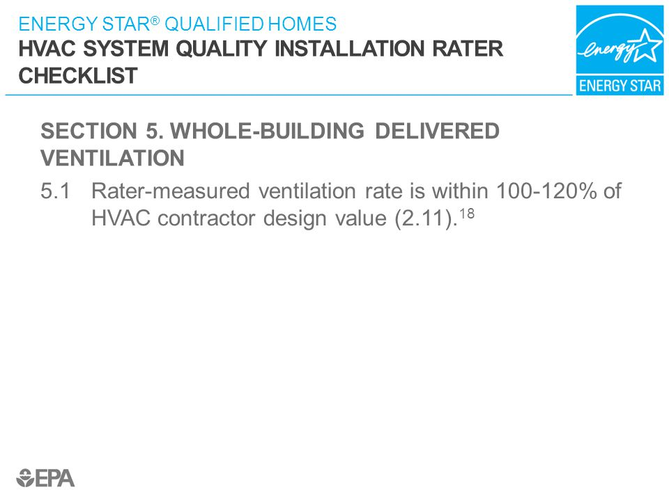 SECTION 5. WHOLE-BUILDING DELIVERED VENTILATION
