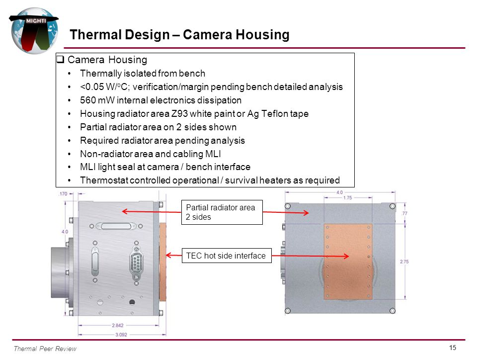 Thermal Design – Camera Housing