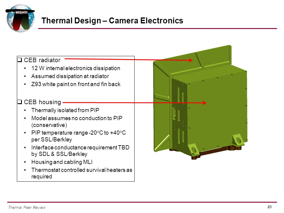 Thermal Design – Camera Electronics