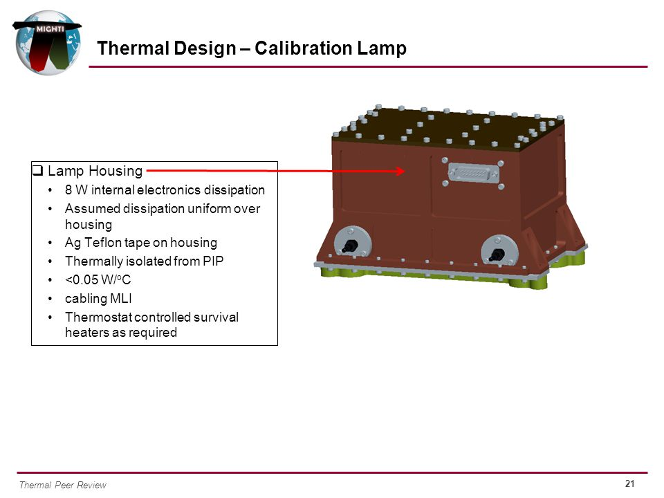Thermal Design – Calibration Lamp