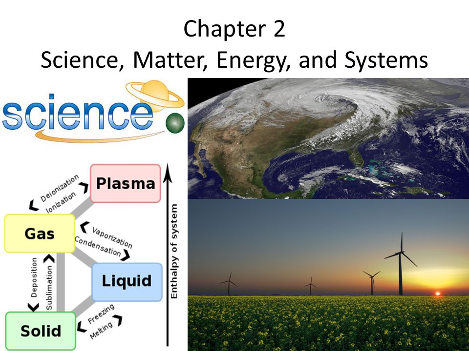 Chapter 2 Science, Matter, Energy, and Systems