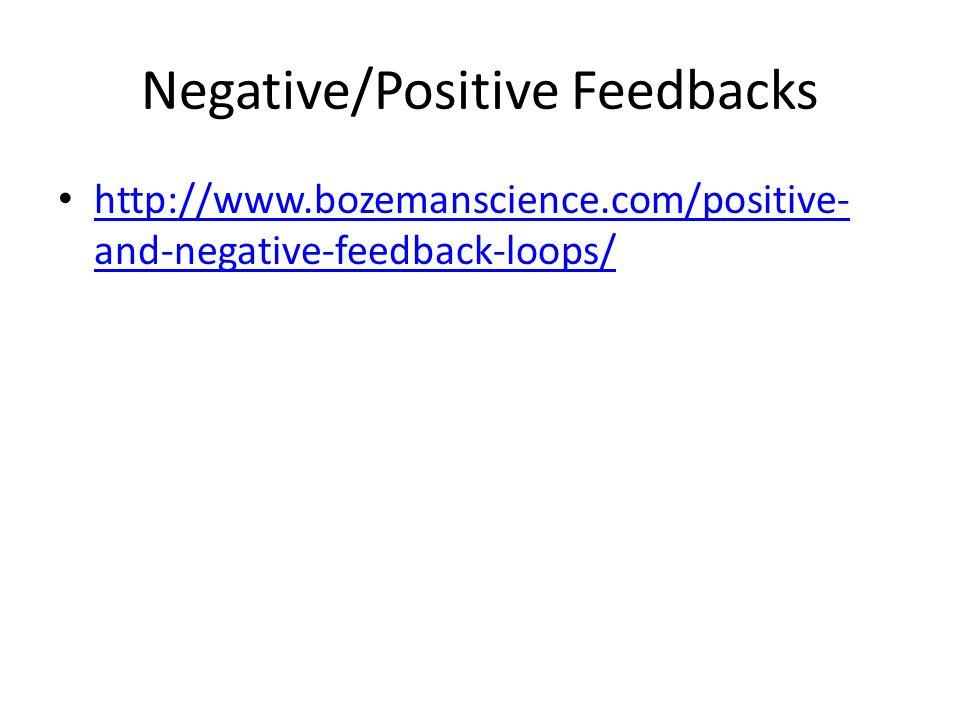 Negative/Positive Feedbacks