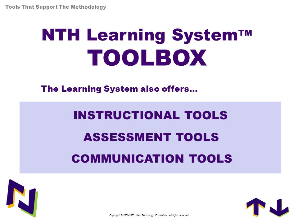 NTH Learning System™ TOOLBOX