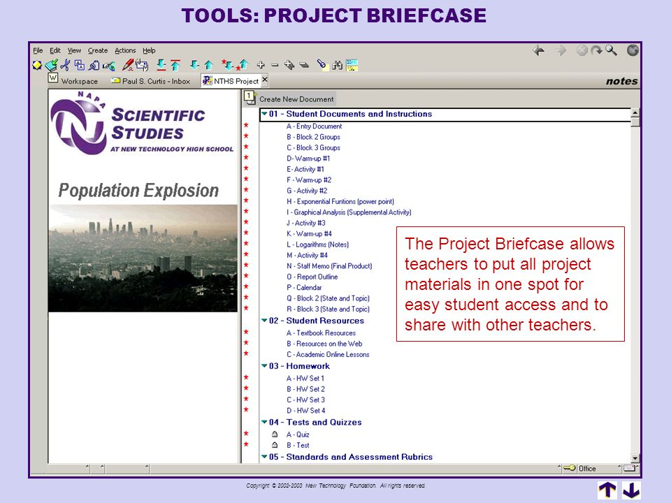 TOOLS: PROJECT BRIEFCASE