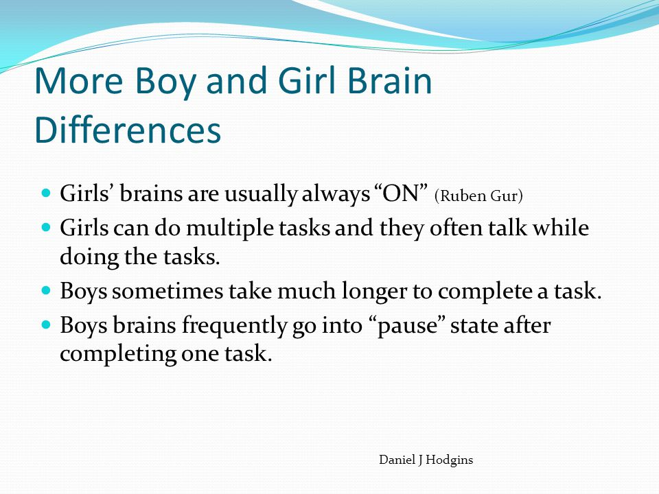 More Boy and Girl Brain Differences