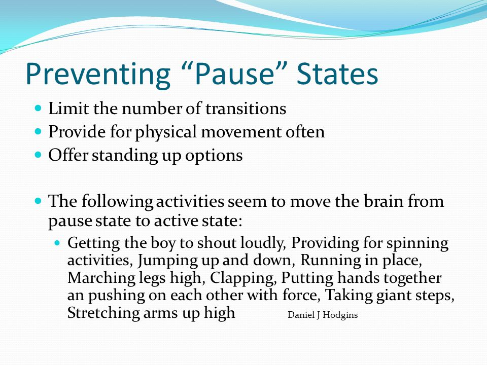Preventing Pause States