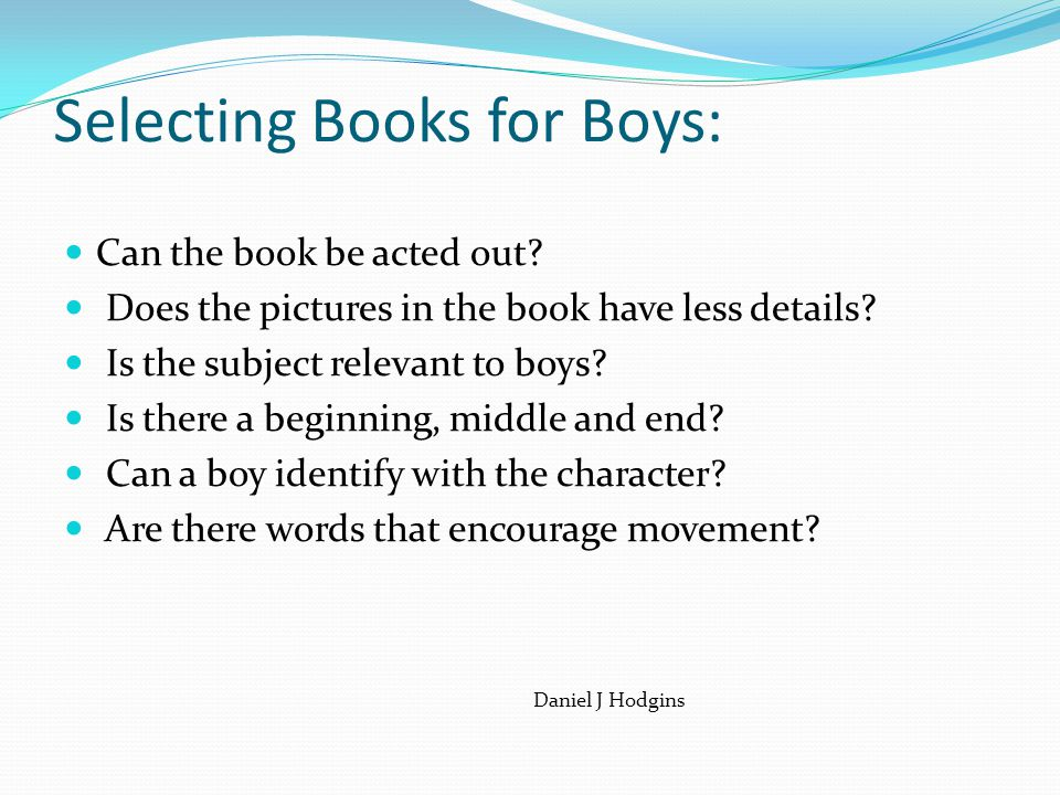 Selecting Books for Boys: