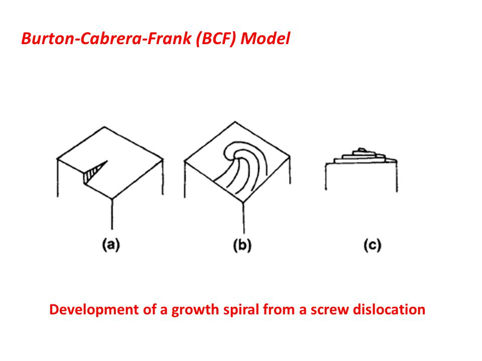 Burton-Cabrera-Frank (BCF) Model
