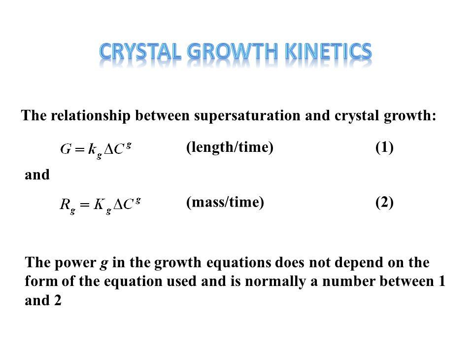 CRYSTAL GROWTH KINETICS