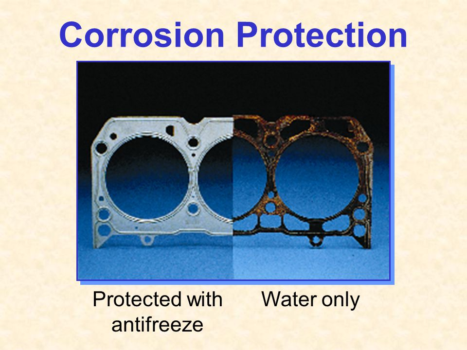 Protected with antifreeze