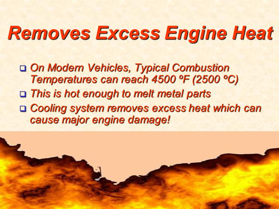 Removes Excess Engine Heat