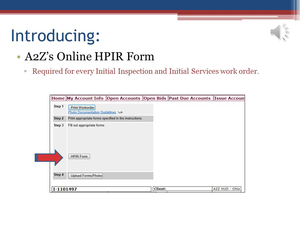 Introducing: A2Z's Online HPIR Form