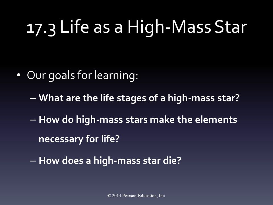 17.3 Life as a High-Mass Star