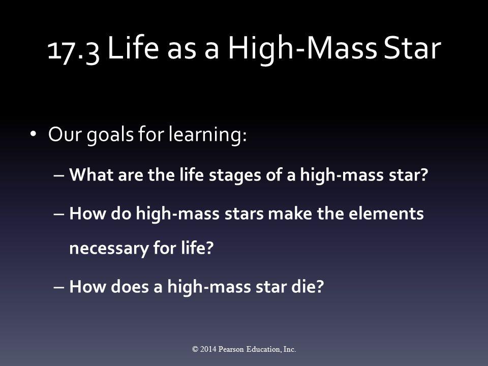 17.3 Life as a High-Mass Star