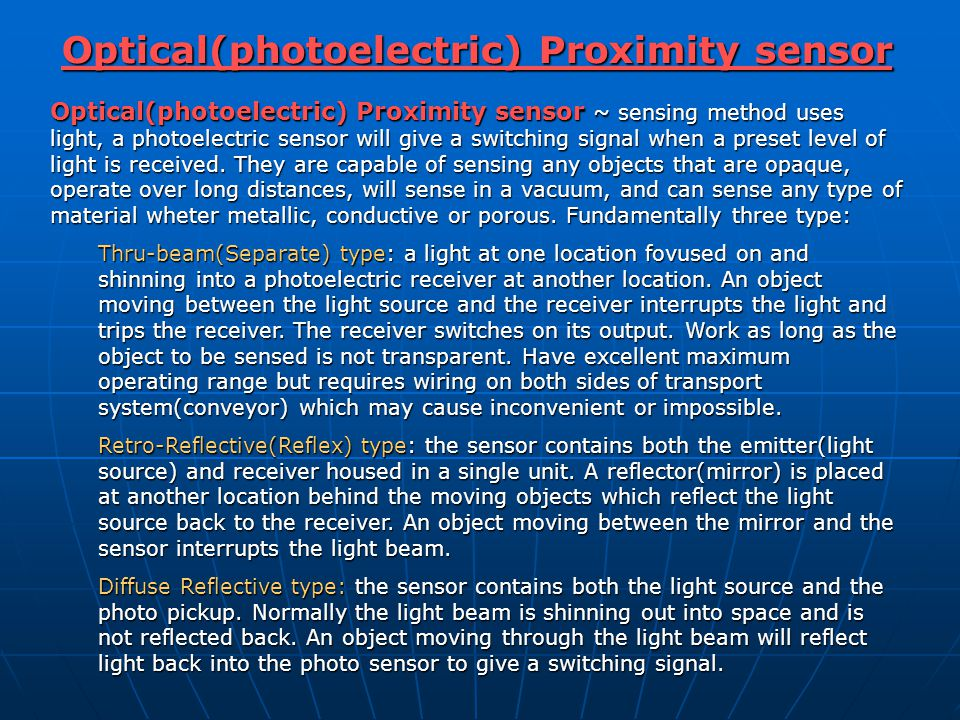 Optical(photoelectric) Proximity sensor
