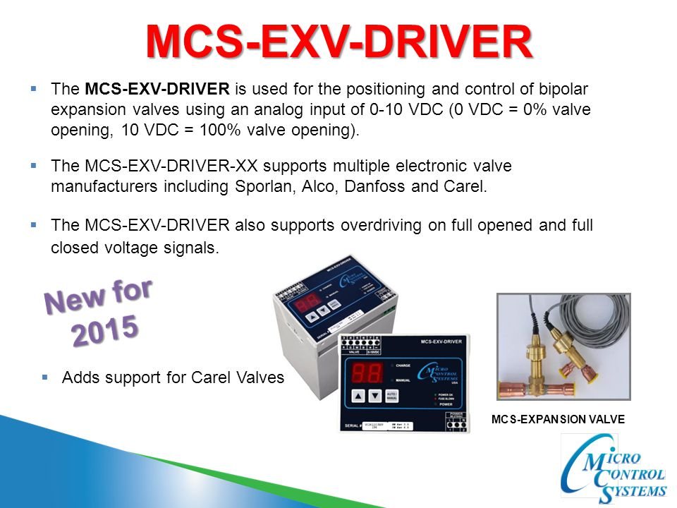 MCS-EXV-DRIVER New for 2015