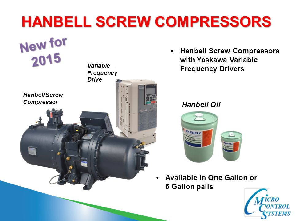 HANBELL SCREW COMPRESSORS