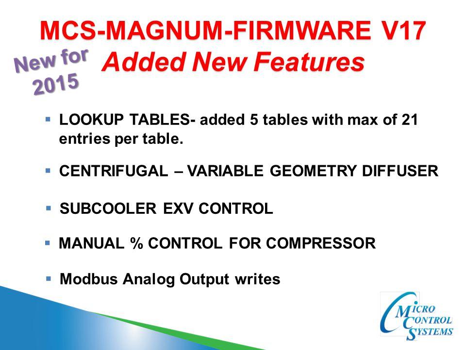 MCS-MAGNUM-FIRMWARE V17