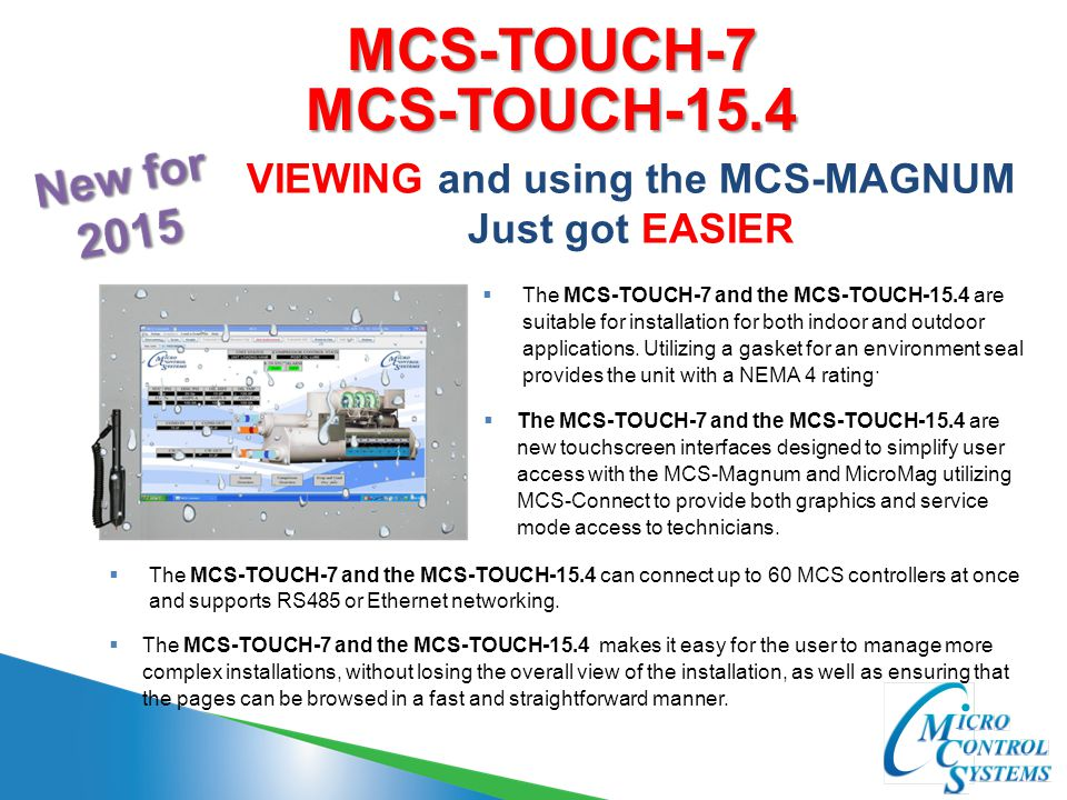 MCS-TOUCH-7 MCS-TOUCH-15.4